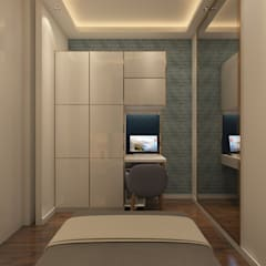 غرف نوم صغيرة تنفيذ Sagar Shah Architects