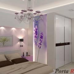 Квартира в м. Київ, вул. Дмитрівська:  Спальня by Дизайн студія 'Porta Rossa'