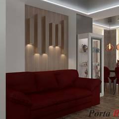 Квартира в м. Київ, вул. Якіра:  Вітальня by Дизайн студія 'Porta Rossa'
