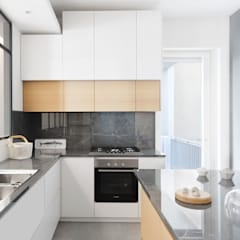 مطبخ ذو قطع مدمجة تنفيذ PLUS ULTRA studio,