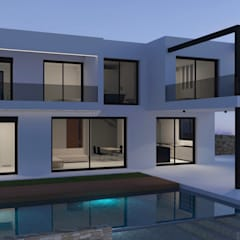 VIVIENDAS UNIFAMILIARES: Casas unifamilares de estilo  de 3B Studio