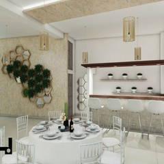SALON DE EVENTOS LA RINCONADA: Salas de entretenimiento de estilo  por HANS DIETER ARQUITECTO,