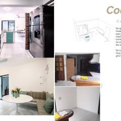 Casa en la zona hotelera: Cocinas de estilo  por Andrea Loya