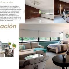 Casa en la zona hotelera: Recámaras de estilo  por Andrea Loya, Mediterráneo