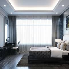PHONG CÁCH ĐÔNG DƯƠNG - Một vẻ đẹp thuần túy trong Thiết kế căn hộ Saigon Pearl :  Phòng ngủ by ICON INTERIOR,