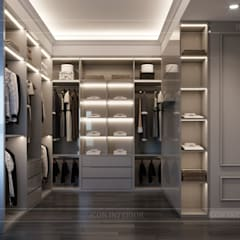 Dressing room by ICON INTERIOR, Asian