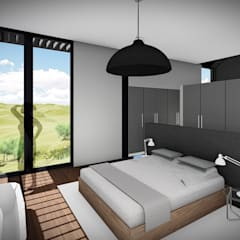 House Voet:  Bedroom by Juan Pretorius Architecture PTY LTD
