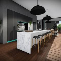 House Voet:  Kitchen by Juan Pretorius Architecture PTY LTD