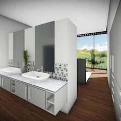 House Voet:  Bathroom by Juan Pretorius Architecture PTY LTD