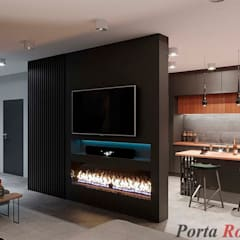 "Квартира в  ЖК ""NEW YORK Concept House"":  Вітальня by Дизайн студія 'Porta Rossa'"