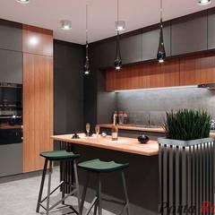 "Квартира в  ЖК ""NEW YORK Concept House"":  Кухня by Дизайн студія 'Porta Rossa',"