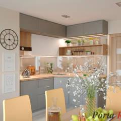 Приватный будинок   в с. с. Петропавлівська Борщагівка:  Кухня by Дизайн студія 'Porta Rossa',