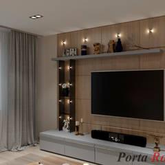Приватный будинок   в с. с. Петропавлівська Борщагівка:  Вітальня by Дизайн студія 'Porta Rossa'