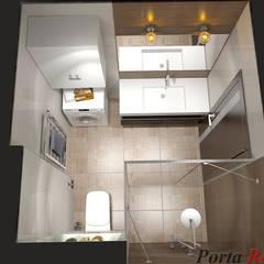 Приватный будинок   в с. с. Петропавлівська Борщагівка:  Ванна кімната by Дизайн студія 'Porta Rossa'