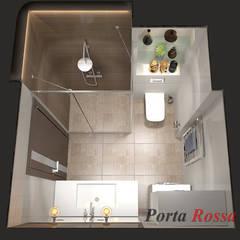 Приватный будинок   в с. с. Петропавлівська Борщагівка:  Ванна кімната by Дизайн студія 'Porta Rossa',