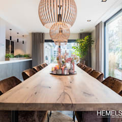 Dining room by Hemels Wonen interieuradvies , Modern لکڑی Wood effect