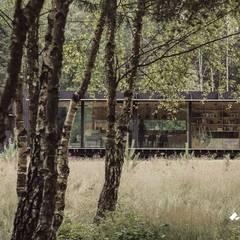 Minimalistyczny dom - stolarka aluminiowa: styl , w kategorii Dom prefabrykowany zaprojektowany przez Przedsiębiorstwo Bizmet Spółka z o.o.