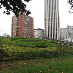 Parque Bicentenario: Jardines frontales de estilo  por Helecho SAS, Moderno Plástico