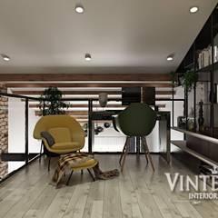 2х-уровневая квартира в скандинавском стиле, ЖК «Пушкинская 60П», г. Ирпень от VINTERIOR!: Рабочие кабинеты в . Автор – Vinterior - дизайн интерьера