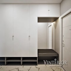 Квартира 1-комнатная, ЖК «L-КвартаЛ», г. Киев в современном стиле от VINTERIOR!: двери в . Автор – Vinterior - дизайн интерьера, Модерн