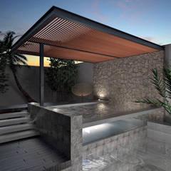 Kolam air hangat oleh Heftye Arquitectura