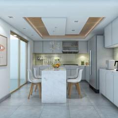 VIVIENDA PEDRO URRACA: Cocinas equipadas de estilo  por HANS DIETER ARQUITECTO