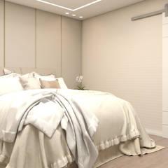 Apartamento para uma família com filhos: Quartos  por Projeto 3D Online,Moderno