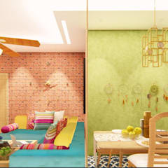 Bohemian Styled Premium Interiors for a 3 BHK at Bangalore:  Corridor & hallway by Aikaa Designs