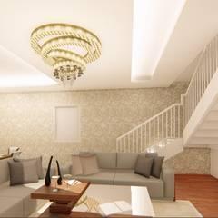 Elegant Interiors for a 3 BHK VILLA at Chennai:  Corridor & hallway by Aikaa Designs,