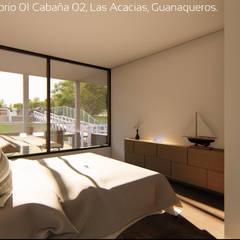 Diseño de Cabañas Las Acacias en el balneario Guanaqueros en Coquimbo: Dormitorios de estilo  por Territorio Arquitectura y Construccion - La Serena