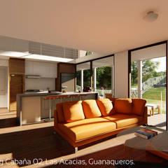 Diseño de Cabañas Las Acacias en el balneario Guanaqueros en Coquimbo: Livings de estilo  por Territorio Arquitectura y Construccion - La Serena