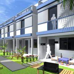 Villa de Ville: Jardins de fachadas de casas  por ARQ-PB Arquitetura e Construção