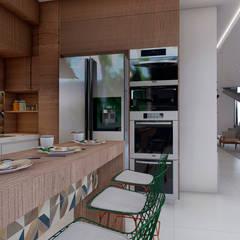 Small-kitchens by TERRABENTO ARQUITETURA E MOBILIário