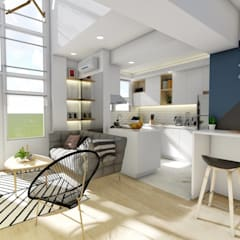 Interior Fit-Out and Design for a Condo Unit:  Dining room by Structura Architects