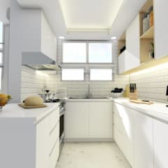 Interior Fit-Out and Design for a Condo Unit:  Small kitchens by Structura Architects