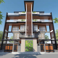 4-Storey Duplex Residence with Roof Deck:  Townhouse by Structura Architects