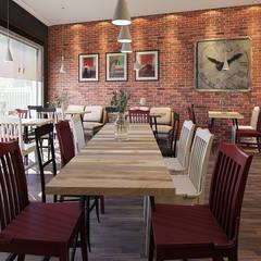 Bar de tapas por Carla Ramalho - arquitetura e design de interiores Industrial