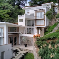 Detached home by GRUPO WALL ARQUITECTURA Y DISEÑO SA DE CV, Colonial انجینئر لکڑی Transparent