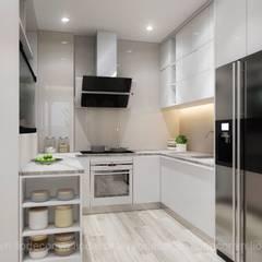 Thiết kế nội thất chung cư Kingston:  Tủ bếp by Lio Decor