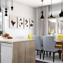 Дизайн проект в сучасному стилі м. Чернігів (117 кв. м):  Кухня by Artlike,