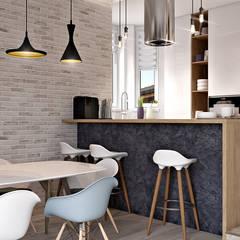 Дизайн проект Дуплексу в Скандинавському стилі в с. Гатне (137 кв. м):  Кухня by Artlike,
