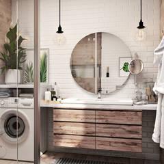 Дизайн проект Дуплексу в Скандинавському стилі в с. Гатне (137 кв. м):  Ванна кімната вiд Artlike, Скандинавський