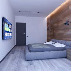 Дизайн дворівневої квартири в стилі Лофт в м. Київ (81 кв. м):  Спальня by Artlike
