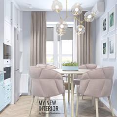 Дизайн кухни двухкомнатной квартиры  60,3 кв.м.: Встроенные кухни в . Автор – Татьяна Черкашина | My New Interior,