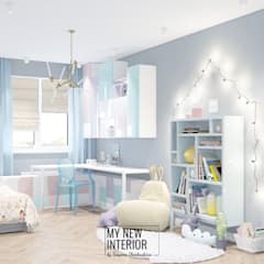 Дизайн детской комнаты двухкомнатной квартиры 60,3 кв.м.: Детские спальни в . Автор – Татьяна Черкашина | My New Interior