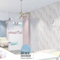 Dormitorios de bebé de estilo  por Татьяна Черкашина | My New Interior,