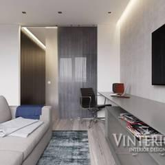 Квартира 1-комнатная, ЖК «Глория Парк», г. Киев: Гостиная в . Автор – Vinterior - дизайн интерьера