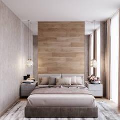 Dormitorios de estilo  por Студия архитектуры и дизайна Дарьи Ельниковой