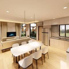 2-Storey Scandinavian-Inspired Residence Scandinavian style dining room by Structura Architects Scandinavian