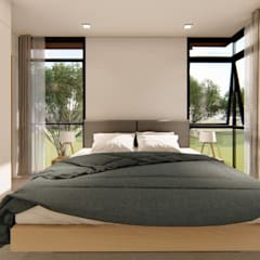 2-Storey Scandinavian-Inspired Residence:  Small bedroom by Structura Architects, Scandinavian
